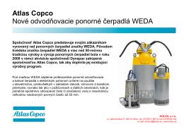 Atlas Copco Nové odvodňovacie ponorné čerpadlá WEDA