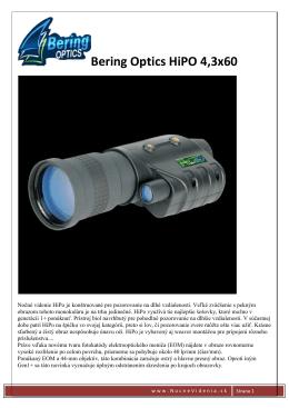 Bering Optics HiPO 4,3x60 - ESHOP