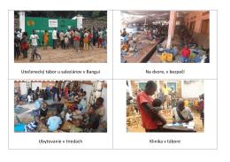 Utečenecký tábor u saleziánov v Bangui Na dvore, v bezpečí