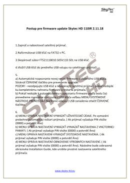 Postup pre firmware update Skytec HD 110IR 2.11.18