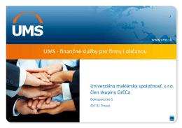 Firemná prezentácia - Univerzálna maklérska spoločnosť