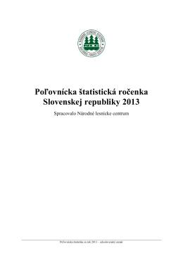 Poľovnícka štatistická ročenka Slovenskej republiky 2013
