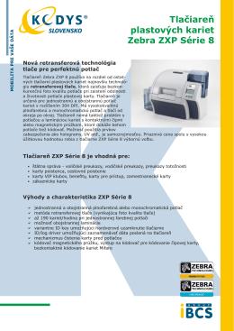Prospekt Zebra ZXP Series 8