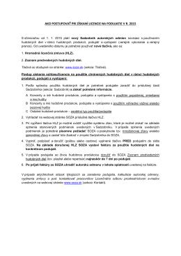 ako postupovať pri získaní licencie na podujatie v r. 2015