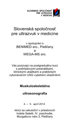 Program podujatia
