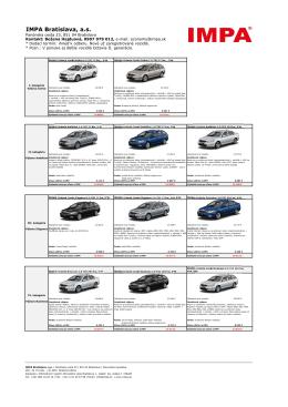 Octavia II_vypredaj IMPA zima 2013