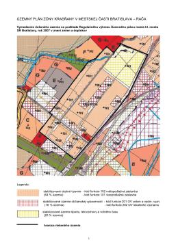 územný plán zóny krasňany v mestskej časti bratislava – rača