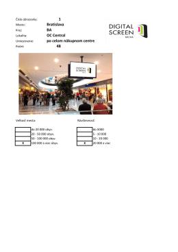 1 Bratislava BA OC Central po celom nákupnom centre 48