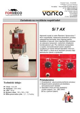 FORMECO - cistenie acetonu - v