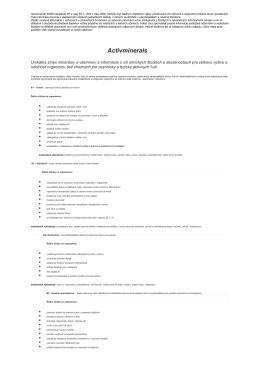 Viac informácií o produkte Activminerals