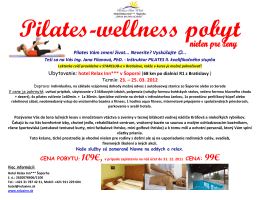 Pilates-wellness pobyt s Jankou