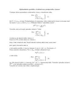 Optimalizácia portfólia s kvalitatívnou predpoveďou výnosov