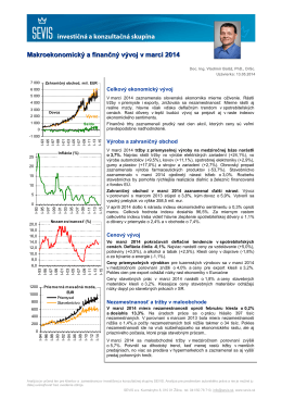 Makroekonomický a finančný vývoj SR za marec 2014