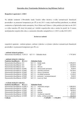 Starostka obce Trenčianske Bohuslavice Ing.Bibiana