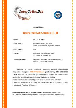 Pozvánka na KURZ TRIBOTECHNIK I,II – Dudince 9