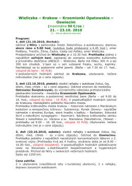 Viac info a program exkurzie do Poľska (PDF súbor)