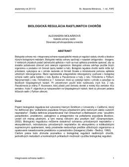 Biologická regulácia rastlinných chorôb