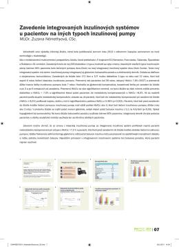 Zavedenie integrovaných inzulínových systémov u - accu-chek