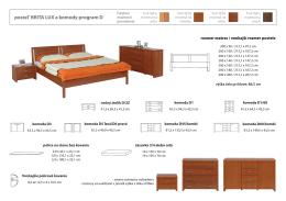 posteľ BRITA LUX a komody program D