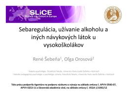 René Šebeňa, Oľga Orosová_Seberegulace