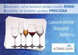 Luxusné poháre dostupné každému