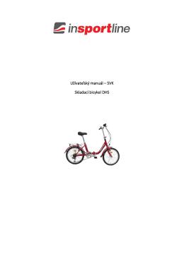 Užívateľský manuál – SVK Skladací bicykel DHS