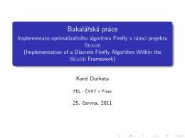Bakalárská práce - Implementace optimalizacního algoritmu Firefly v