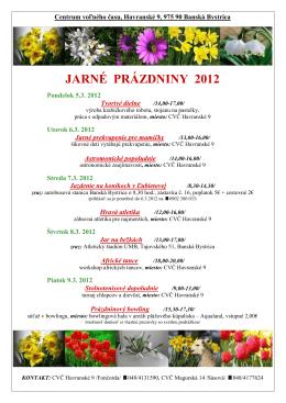 Centrum voľného času, Havranské 9, 975 90 Banská