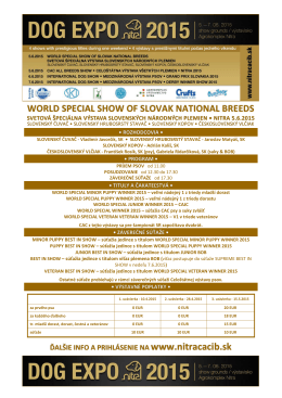 WORLD SPECIAL SHOW OF SLOVAK NATIONAL BREEDS