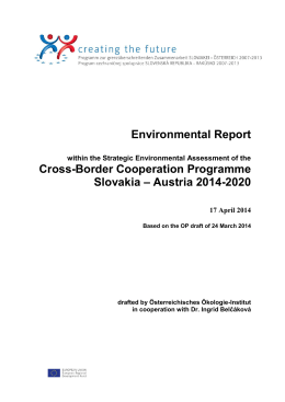 Environmental Report within the Strategic - SK-AT 2007-2013