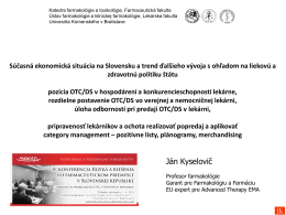 Prof. PharmDr. Ján Kyselovič, CSc., Farmaceutická fakulta