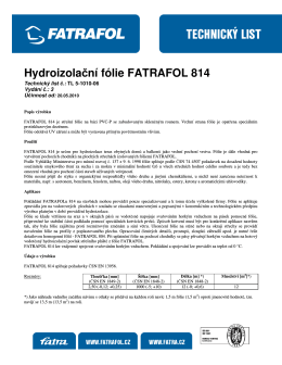 Hydroizolační fólie FATRAFOL 814