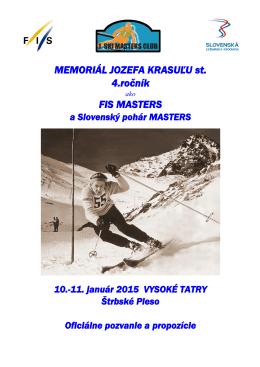 Slovenský pohár MASTERS v zjazdovom lyžovaní - Steirerski