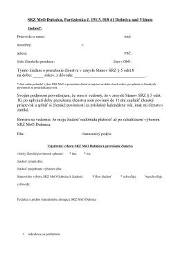 SRZ MsO Dubnica, Partizánska č. 151/3, 018 41 Dubnica nad