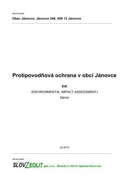 Protipovodňová ochrana v obci Jánovce