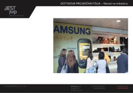 Dotykové projekčné fólie (pdf)