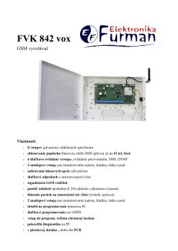Datasheet FVK 842 vox