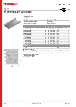 1 KGI 60 Plný kabelový žlab, s integrovanými konci