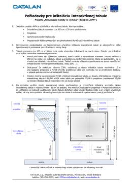 Poziadavky na instalaciu Interaktivnej tabule AMV.pdf