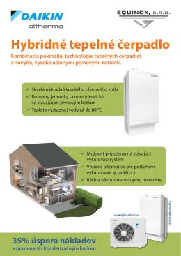 Hybridné tepelné čerpadlo - HYBRIDNE