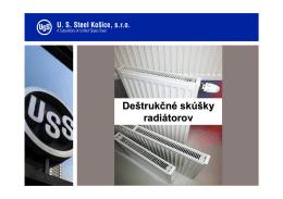 Deštrukčné skúšky radiátorov