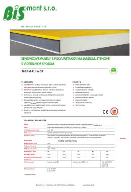 Katalóg thermo-izolačných sendvičových panelov