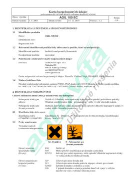Karta bezpečnostných údajov AGIL 100 EC