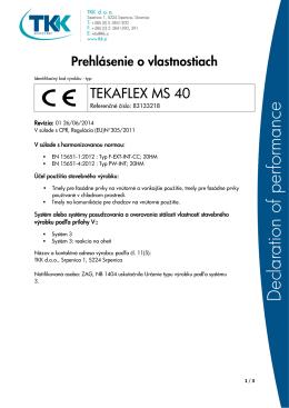TEKAFLEX MS 40