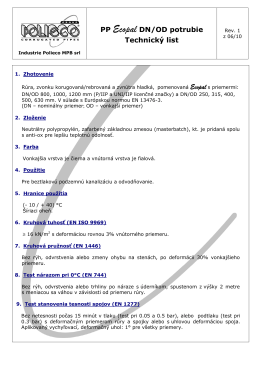 """Technické vlastnosti"" Ecopal SN16 DN/OD vo formáte .pdf"