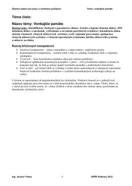 Inicializácia a diagnostika pevného disku