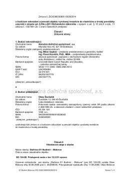 Zmluva č. ZIO/0380/30800 /0029/2014 o budúcom
