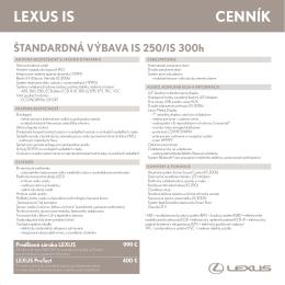 lexus is ceNNÍK