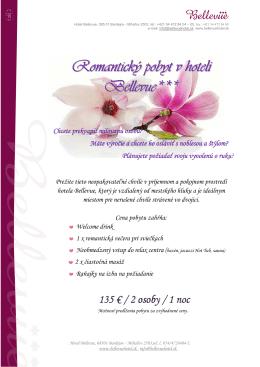 Romanticky pobyt - HOTEL BELLEVUE *** Bardejov
