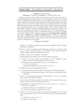Domáca úloha Alg. štruktúry pre informatikov Zima 2011-12